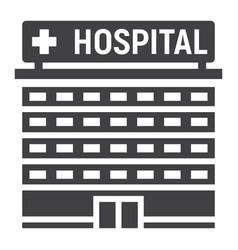 hospital building glyph icon medicine vector image