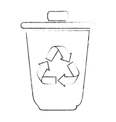 isolated recycle bin vector image