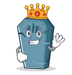 King tombstone character cartoon object vector