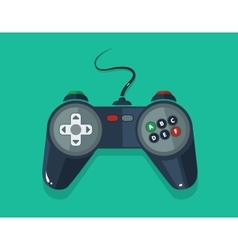 Picture of gamepad in flat style vector