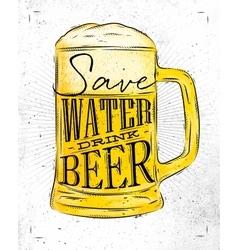 Poster drink beer vector