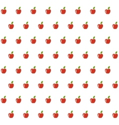 Sample seamless apple background vector image vector image