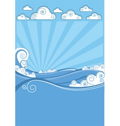 Sea waves in sun day abstract image vector image vector image