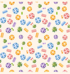 seamless pattern with summer beach vector image vector image