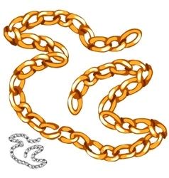 Shiny precious gold chain vector