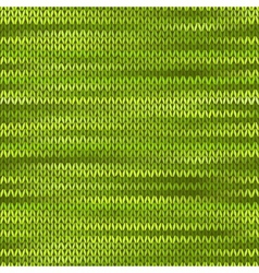 Style Seamless Knitted Melange Pattern Green Color vector image vector image