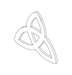 Triquetra icon isometric 3d vector