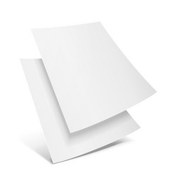 Two blank paper leaflet flyer broadsheet flier vector