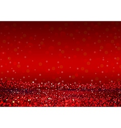 Defocused abstract red lights background vector