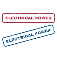 Electrical power rubber stamps vector