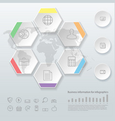 Infographics business options template for vector