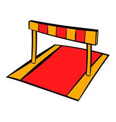 barriers on treadmill stadium icon icon cartoon vector image