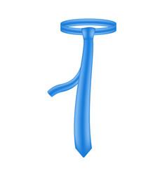 Necktie in blue design vector