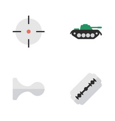 Set of simple offense icons elements hunting vector