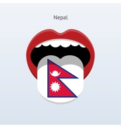Nepal language abstract human tongue vector