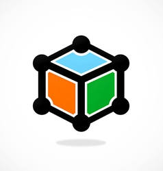 Box cube data technology logo vector