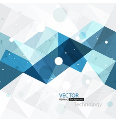 abstract technology background blue vector image