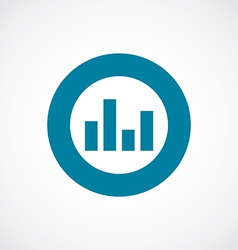 Equalizer icon bold blue circle border vector