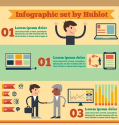 Business infographic set vector