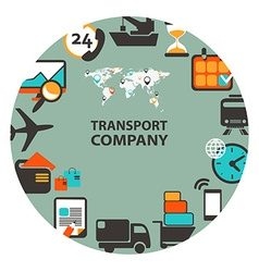 Transport company emblem vector
