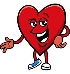 heart valentine cartoon character vector image