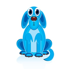 cartoon blue dog vector image