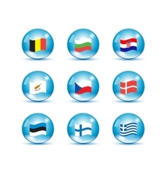 European union country flags vector