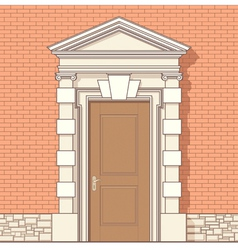 entrance in classic style vector image