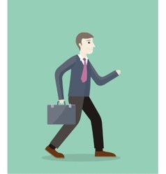 Time for invest man with briefcase vector