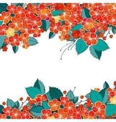 Blossom red flower background vector