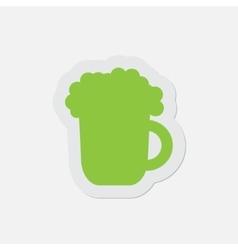 Simple green icon - beer vector