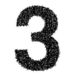 alphabet 3 vector image