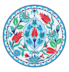 Antique ottoman turkish ceramic design vector