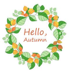 Autumnal round frame vector