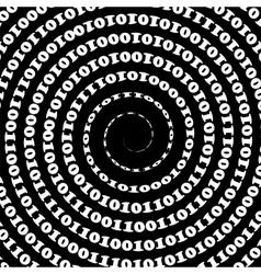 Binary Code Background vector image vector image