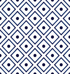 blue ceramic pattern vector image vector image