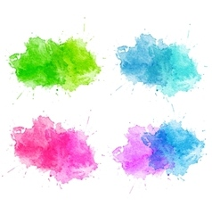 Blue Watercolor splatters vector image