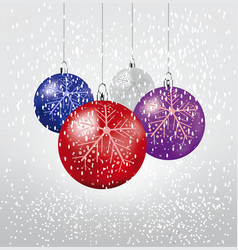 Christmas balls set of isolated realistic vector