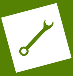 Crossed wrenches sign white icon obtained vector