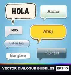 Dialogue Bubbles vector image