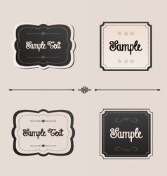 Elegant frames and menu invitation design elements vector
