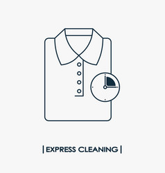 express cleaning outline icon vector image