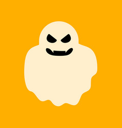flat icon stylish background halloween ghost vector image