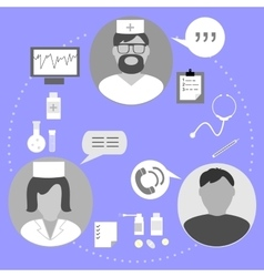 Icons on the topic of medical examination vector