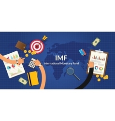 imf international monetary fund concept vector image