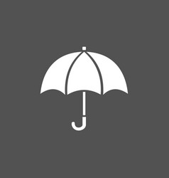 isolated umbrella icon on a dark background vector image