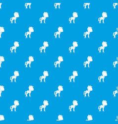 little pony pattern seamless blue vector image