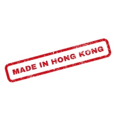 Made in hong kong rubber stamp vector