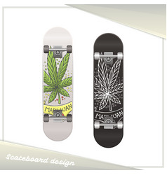 Medical marijuana skateboard ten vector