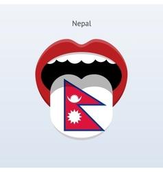 Nepal language abstract human tongue vector